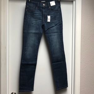 NWT Express medium wash stretch skinny jeans 4R